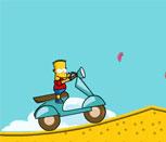 Игра Барт Симпсон на байке