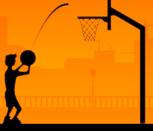 Игра броски в баскетбольное кольцо
