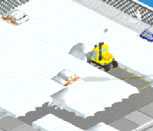 Игра чистим снег на тракторах
