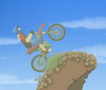 Игра езда на мотоцикле по горам