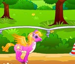 Игра для девочек гонки Пони