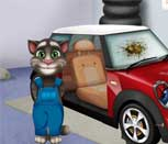 Игра говорящий кот Том чинит автомобиль