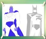 Игра раскраска Бэтмен и Супермен