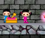 Мальчик и девочка в подземелье