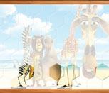 Игра пазл с Мадагаскар