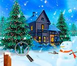 Игра поиск цифр на Рождество