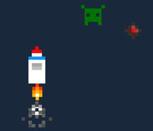 Игра полёт ретро ракеты