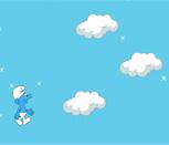 Игра прыжки Смурфика по облакам