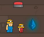 Шахтёры в поисках алмазов