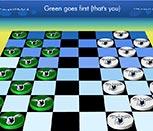 Игра шашки с Коалой