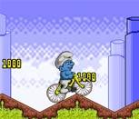 Игра Смурфик на велосипеде