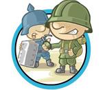 Игра военный пинг понг на двоих